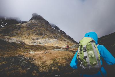 Hiking Up Ben Arthur